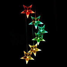 Clear Star Color Changing Solar Light Wind Chimes ... - Amazon.com