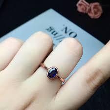 <b>shilovem 925 silver sterling</b> natural sapphire stud earrings rings ...