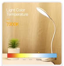 <b>YAGE</b> 7300K USB <b>Table</b> Lamp with Clip 1200mAh 18650 ...
