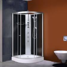 cabinets uk cabis: alto  mm x mm hydro shower cabin carbon black