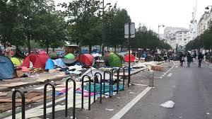 Hasil gambar untuk migrant filthy camp paris street
