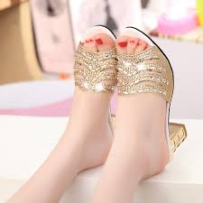 Genuine leather <b>high</b> heeled rhinestone sandals spring <b>summer</b> ...
