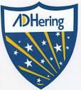 adhering