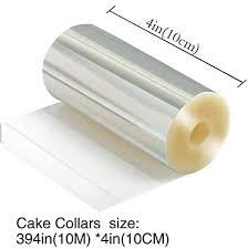 <b>Cake</b> Collars 4 x 394inch, Picowe Acetate Rolls, <b>Clear Cake</b> Strips ...