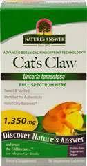 Cat's Claw: <b>Cat's Claw 1350 mg</b> per serving