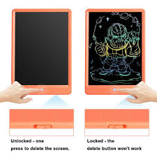 Writing Tablet <b>10 Inches LCD Writing Board</b> Colorful Screen Orange ...