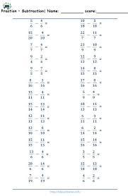 Fraction - Worksheets 5th Grade | Kids ActivitiesFraction Addition unlike Fraction up to 100 · Fraction Subtraction like Fraction up to 20