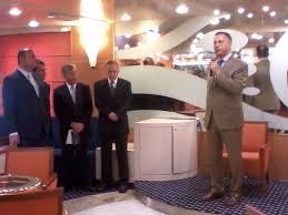 inaugurazione nuova linea italia della compagnia di ambasciatore giovanni umberto de vito