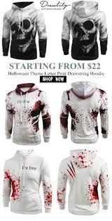 Free shipping over $39. <b>Halloween Theme</b> Letter <b>Print</b> Drawstring ...