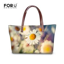 <b>FORUDESIGNS Flower Printed Women</b> Handbag Daisy Vintage ...