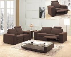 living room endearing brown microfiber fabric modern 3pc reclining living room set photos of new at attractive modern living room furniture