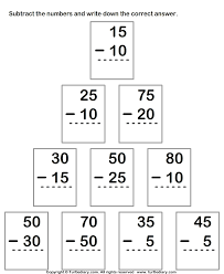 Subtract Numbers up to Two Digits From Two Digit Numbers Worksheet ...Subtracting from Two-digit Number