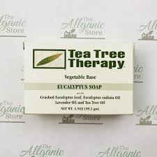 TEA TREE THERAPY <b>Eucalyptus</b> Vegetable Base <b>Soap 3.5oz</b> ...