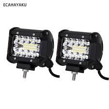 "<b>ECAHAYAKU 2PCS</b> 4"" <b>60W</b> LED Light Bar Waterproof IP68 6000K ..."