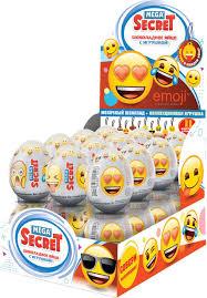 Сладкая Сказка <b>Emoji шоколадное яйцо</b> с игрушкой, 24 шт по 20 г