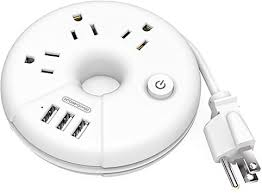 Travel Power Strip, NTONPOWER 3 Outlets 3 USB ... - Amazon.com