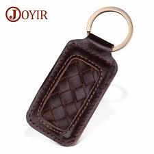 <b>JOYIR</b> Genuine Leather Keychain Kintting Car Key Ring ...
