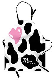 Ambesonne <b>Cow</b> Print Apron, Camouflage Hide Pattern in <b>Black</b> ...