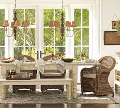 Dining Room Table Pottery Barn Pottery Barn Dining Room White Table White Fluffy Cover Chairs