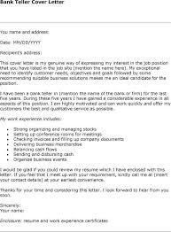 cover letter examples bank teller no experience bank teller cover letter with no experience job hunter bank teller sample resume
