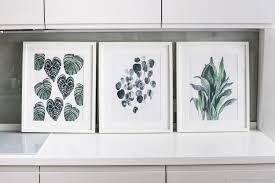 """<b>Постеры</b> -триптих """"Домашние растения"""" авторская акварель ..."""