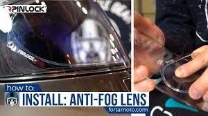 How to install a <b>Pinlock anti</b>-<b>fog</b> lens | FortaMoto.com - YouTube