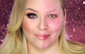 watch power of make up vlogger nikkie tutorials transform half her face to bat make up shaming