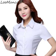 Fashion women short sleeve shirt <b>2019 New summer</b> formal ol ...