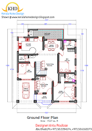 Home plan and elevation Sq  Ft   Kerala home design and floor    New Home Plans   June