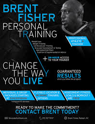fitness flyer design for personal trainer flyers personal trainer flyer fitness by fish brent fisher personal training by kaitlyn cook