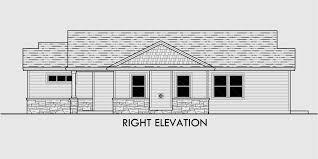 Cost Efficient House Plans  Empty Nester House Plans  House PlansHouse side elevation view for Cost efficient house plans  empty nester house plans