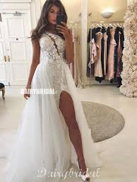 <b>One Shoulder</b> Mermaid Lace <b>Sexy</b> Slit Tulle <b>Floor</b>-<b>length</b> Wedding ...