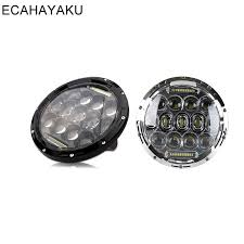 <b>ECAHAYAKU</b> For jeep Wrangler Led Headlight 7inch <b>75W Round</b> ...