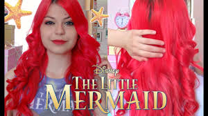 The Little <b>Mermaid</b> Hair Tutorial (Bright <b>Red Hair</b> Tutorial) - YouTube