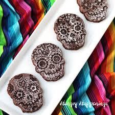 <b>Sugar Skull</b> Brownies - fun dessert for Day of the Dead or <b>Halloween</b>