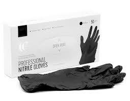 LUCAS' COSMETICS <b>Перчатки нитриловые черные</b> M 50 шт ...