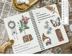 <b>Japanese Decorative Flower Floral</b> Diary Journal Vintage Paper ...