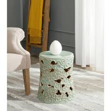 patio stool: safavieh ocean cloud reactive aqua garden patio stool acsc the home