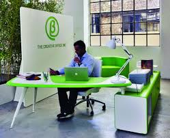 green modern office creative design amazing small space office