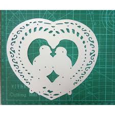 Compare <b>123*138mm Love</b> Heart Birds Metal Cutting Dies For DIY ...