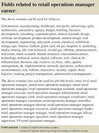 top  retail operations manager resume samples       fields related to retail operations manager