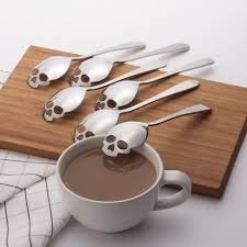 KCASA KC-FS05 <b>Skull</b> Shape <b>Stainless</b> Steel <b>Tea</b> Coffee <b>Sugar</b> ...