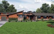 Contemporary House Plans   e ARCHITECTURAL designPlan W AM  Stunning Contemporary Ranch Home Plan