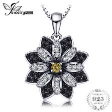 2019 <b>JewelryPalace Flower Natural Taupe</b> Smoky Quartz Black ...