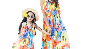 2016 Bohemian Summer <b>Mother</b> Daughter Dresses Sleeveless ...