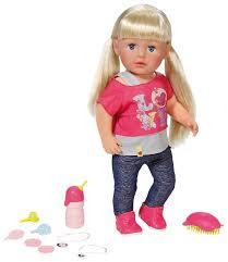 Интерактивная <b>кукла Zapf Creation</b> Baby Born Сестричка 43 см ...