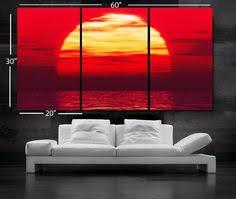 "LARGE 30""x 60"" <b>3 Panels</b> Art Canvas Print Beautiful Huge <b>Sunset</b> ..."