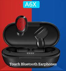 <b>Fingerprint Touch</b> Bluetooth Earphones