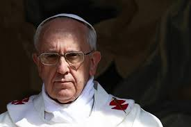 Image result for pope francis frowning