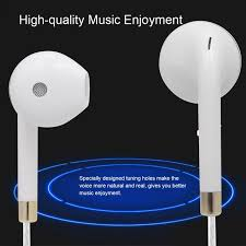 Generic 3.5mm <b>Line Control Earphone</b> with mic High-quality Sound ...